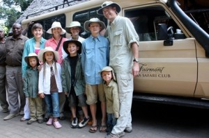 Holland Family in Africa before a safari