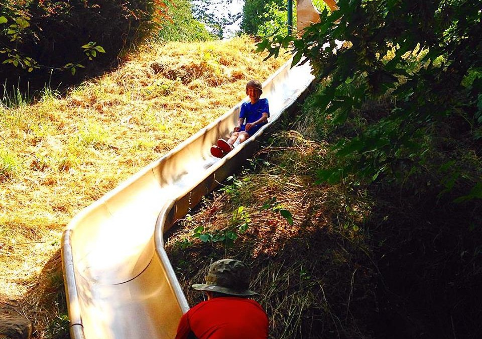 A slide built into a hill and a meteorite: Exploring local parks is our No. 5 Summer 2015 Outdoor Adventure with Kids