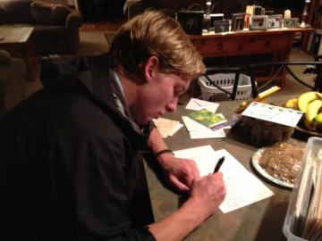 wes writing thank yous